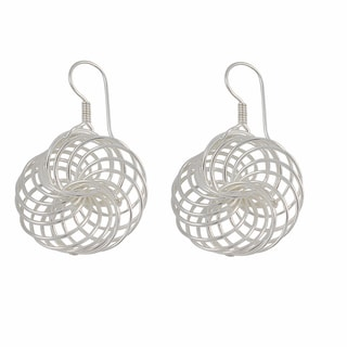 Handcrafted Sterling Silver Circles Galore Dangle Earrings (Mexico)