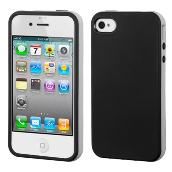 BasAcc Black/ Gray Candy Skin Case for Apple® iPhone 4/ 4S