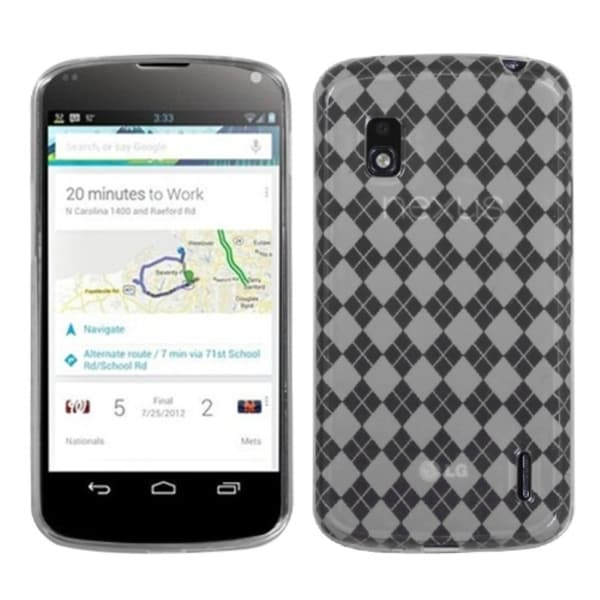 BasAcc T-clear Argyle Pane Candy Skin Case for LG E960 Nexus 4