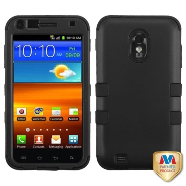INSTEN Black TUFF Hybrid Phone Case Cover for Samsung Galaxy SII / Epic 4G Touch