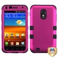 BasAcc Hot Pink/ Black TUFF Hybrid Case for Samsung Galaxy SII 4G