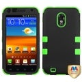 BasAcc Black/ Electric Green TUFF Hybrid Case for Samsung Galaxy S II