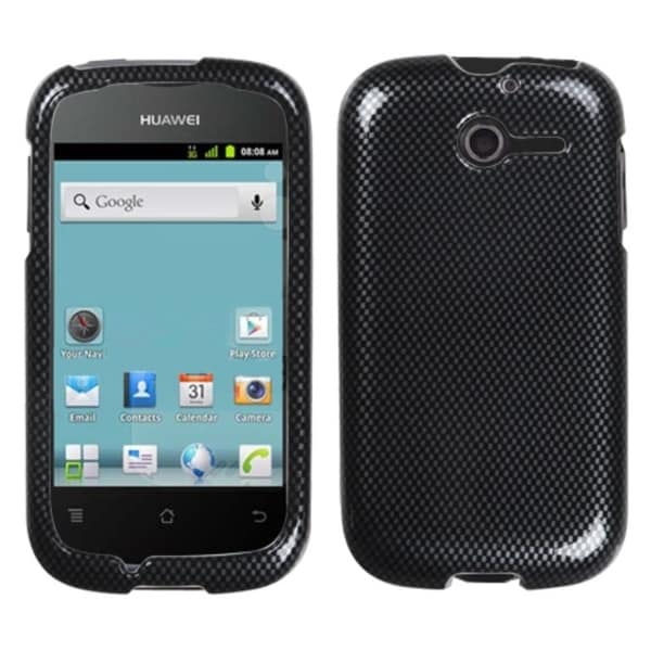 INSTEN Carbon Fiber Phone Case Cover for Huawei M866 Ascend Y