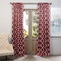 Exclusive Fabrics Trellise Print Blackout Curtain Panel Pair
