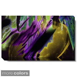 Studio Works Modern 'Ambrose Frisson - Purple, Red and Green' Gallery Wrapped Canvas