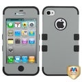 BasAcc Gray/ Black TUFF Hybrid Phone Case for Apple iPhone 4S/ 4