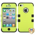 BasAcc Yellowish Green/ Black TUFF Hybrid Case for Apple iPhone 4S/ 4