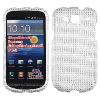 BasAcc Silver Diamante Case for Samsung I425 Galaxy Stratosphere III