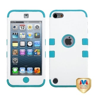 BasAcc Ivory White/ Tropical Teal Hybrid Case for Apple� iPod touch 5