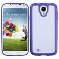 BasAcc Clear/ Solid Purple Gummy Case for Samsung Galaxy S4 i9500