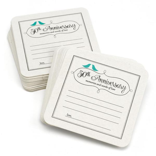 Hortense B. Hewitt 50th Anniversary Words of Love Coasters