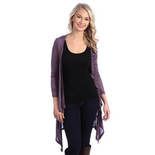 Stanzino Women's Long Sleeve Asymmetric Hem Long Cardigan