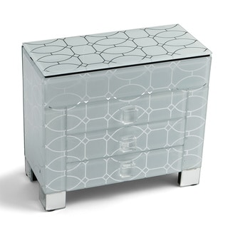 Decorative Home 3-drawer Glass Jewelry Box