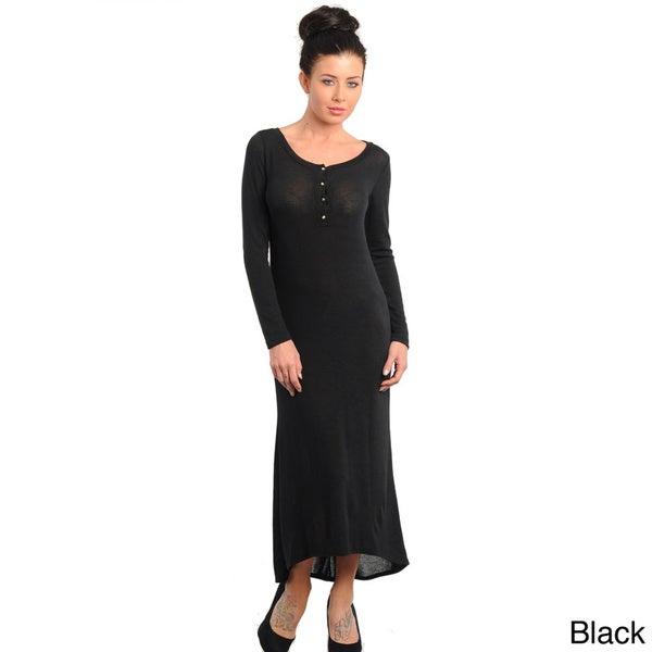 Stanzino Women's Long Sleeve Maxi Dress