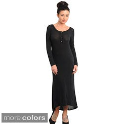Stanzino Women's Long Sleeve Maxi Dress