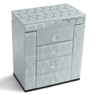Decorative Home 4-drawer Glass Jewelry Box
