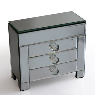 Decorative Home Glass 3-drawer Jewelry Box