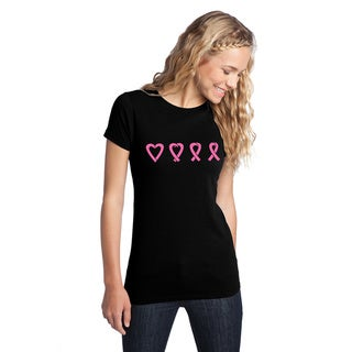 Women's Black Love Into Awareness Breast Cancer T-Shirt