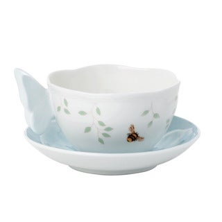 Lenox Butterfly Meadow Blue Butterfly Cup Saucer Set