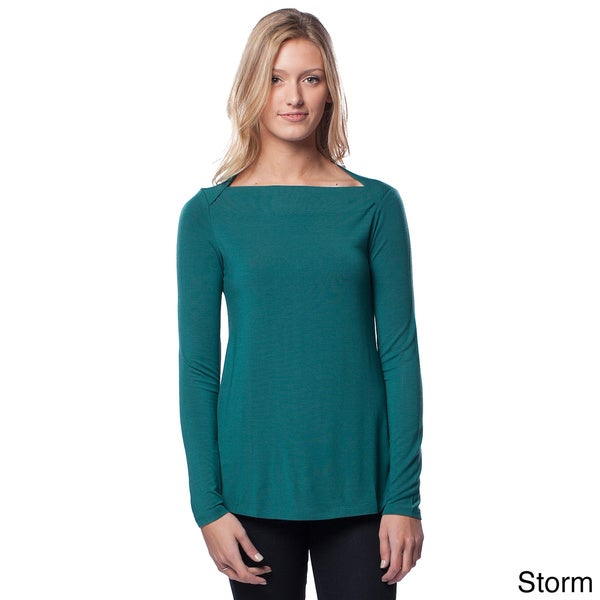 AtoZ Women's Boatneck Top