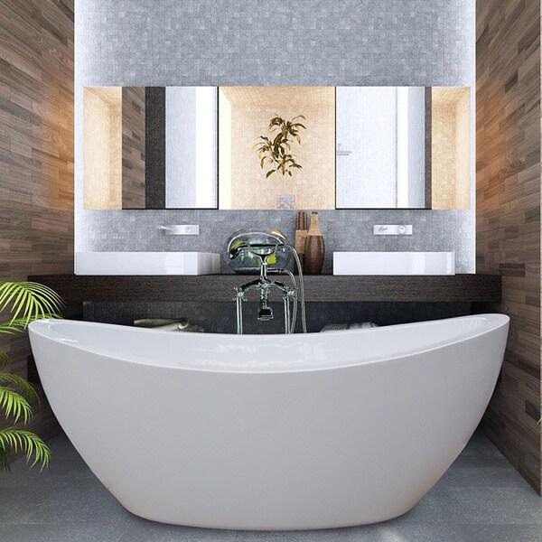 Aquatica PureScape Freestanding High-gloss White Acrylic Bathtub