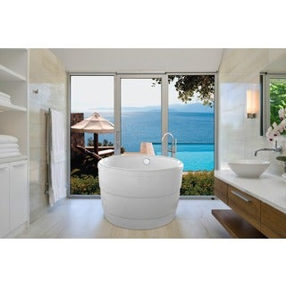 Aquatica PureScape 034 Freestanding White Acrylic Bathtub