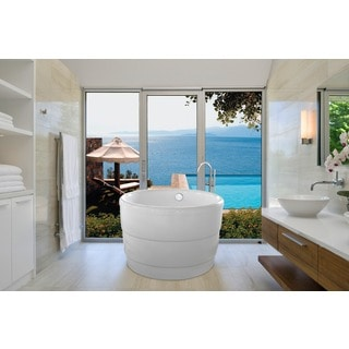 Aquatica PureScape Freestanding White Acrylic Bathtub