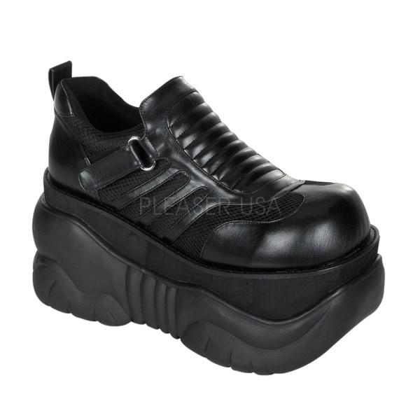 Demonia 'Boxer-05' Platform Knee Cyber Black Boots