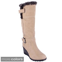 Reneeze Women's 'ADDIE-02' High Heel Knee-high Boots