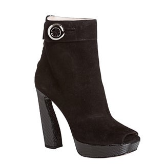 Prada Women's Suede Peep-toe Booties