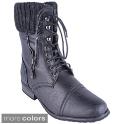 Reneeze Women's 'ALICE-04' Mid-calf Lace-up Boots