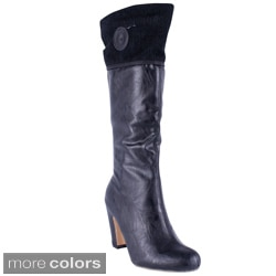 Reneeze Women's 'ALTA-01' High Heel Knee-high Boots