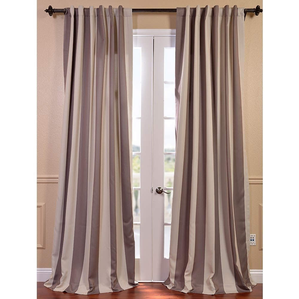 EFF Charleston Stripe Tan Blackout Curtain at Sears.com