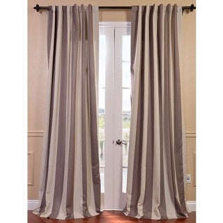 EFF Charleston Stripe Tan Blackout Curtain