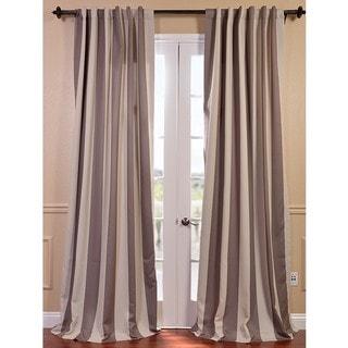Charleston Stripe Tan Blackout Curtain