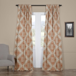 Exclusive Fabrics Henna Blackout Curtain Panel Pair