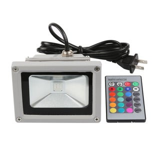 Remote Control Waterproof 10W RGB LED Flood Light, 16 Color Tones