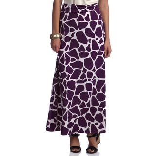 Women's Animal Print Long Maxi Skirt