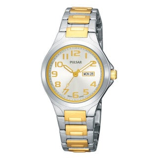 Pulsar Women's Two-tone Silvertone Dial Watch