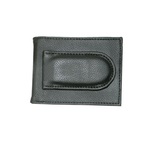 Hollywood Tag Leather Money Clip with Top Closure