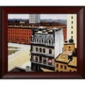 Edward Hopper 'The City' Hand Painted Framed Canvas Art