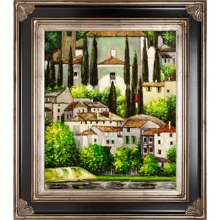 Gustav Klimt 'Church in Cassone' Hand Painted Framed Canvas Art