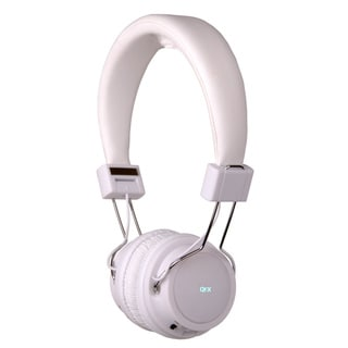 QFX H-55 Folding Stereo Headphones w/ Rechargeable Battery and MP3 FM Radio-WHT