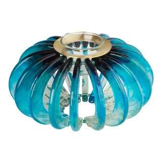 Lalo Treasures Feeling Good Blue 'Pumpkin' Candle Holder (Bulgaria)
