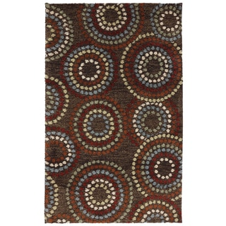 American Rug Craftsmen Shaggy Vibes Juniper Hot Fudge Rug (5'x8')