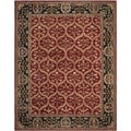 Safavieh Hand-made Anatolia Red/ Navy Wool Rug (9' x 12')