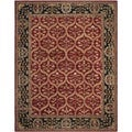 Safavieh Hand-made Anatolia Red/ Navy Wool Rug (9' x 12')