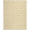 Safavieh Handmade Moroccan Chatham Light Gold/ Ivory Geometric Pattern Wool Rug (6' x 9')