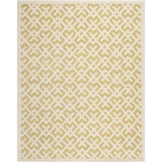 Safavieh Handmade Moroccan Chatham Light Gold/ Ivory Wool Rug (8' x 10')