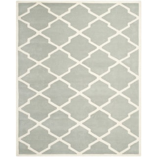 Safavieh Handmade Contemporary Moroccan Chatham Gray/ Ivory Wool Rug (8'9 x 12')
